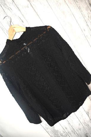 Lindex koszula koronkowa koronka 36 s czarna