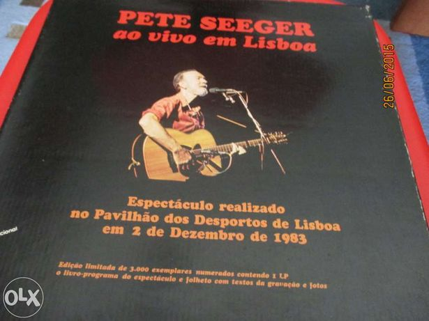 Vinil de Pete Seeger - Ao vivo em lisboa (raro) + 3 LP's
