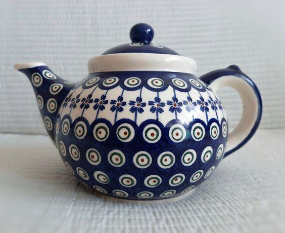 Nowy piękny 1,5L czajnik ceramika bolesławiecka