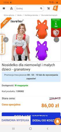 Nosidełko dla niemowląt