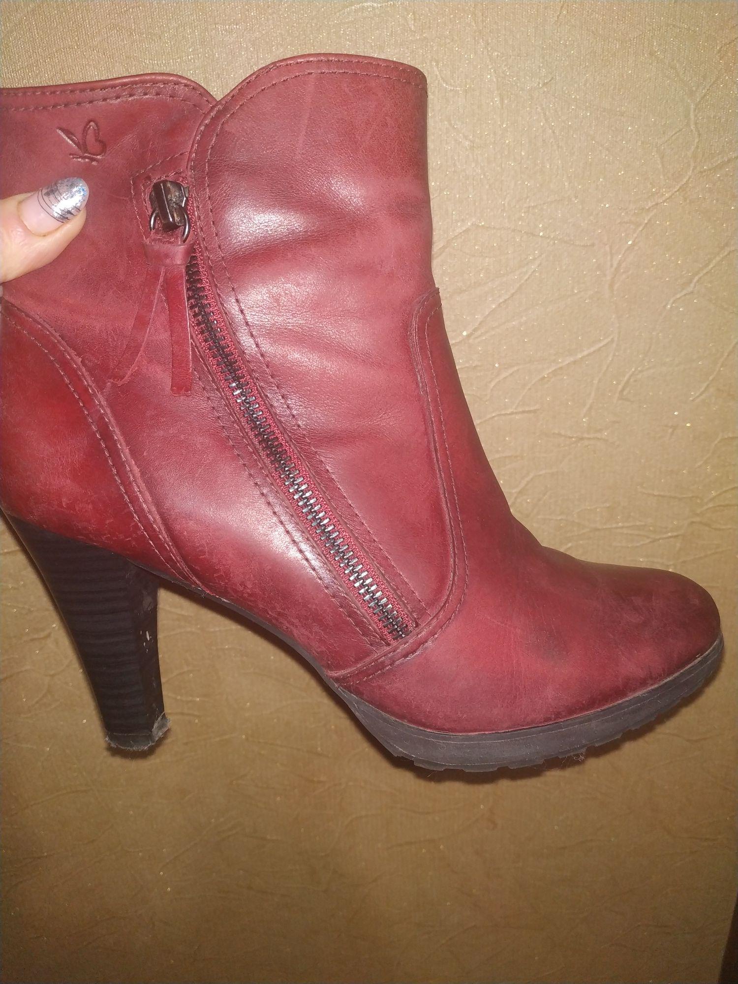 """Кожаные ботинки """"Caprice"""" размер 39."""