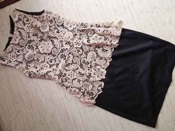 Нарядное платье гипюр р. С-М