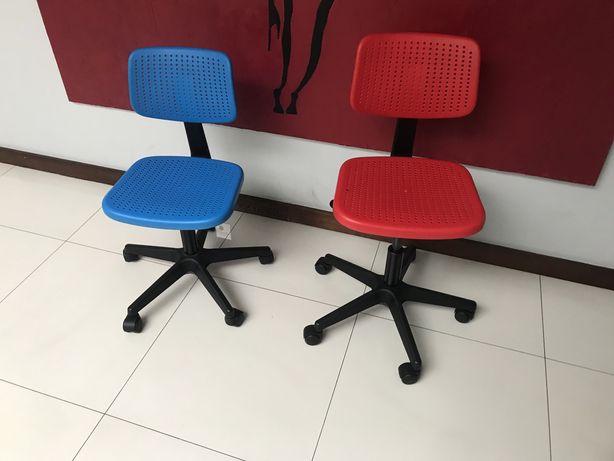 Dwa krzesła fotele biurkowe IKEA  1szt 50 zł stan idealny
