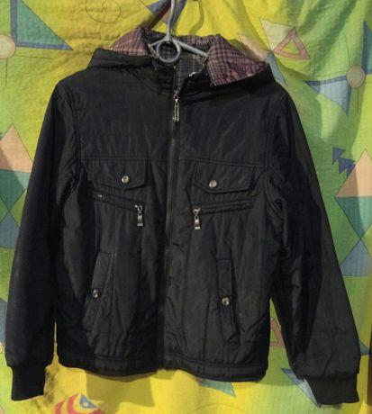 Двусторонняя демисезонная куртка для мальчика, р.36