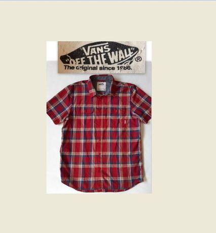 VANS /L/ koszula męska w kratę z krótkim rękawem BDB+