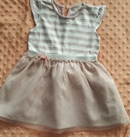 Sukienka dziewczęca r 86