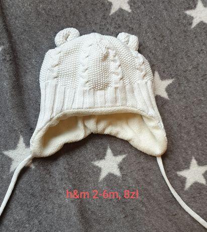czapka zimowa na polarku hm 2-6m