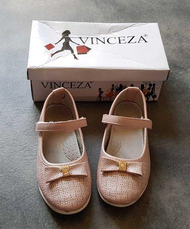 Buty balerinki różowe rzep Vinceza rozm. 29