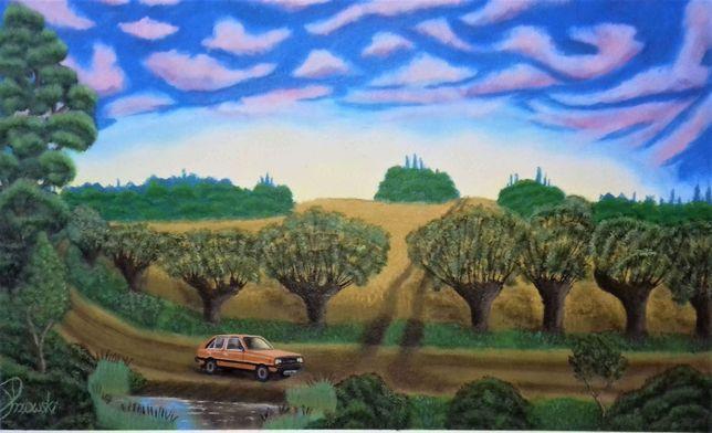 Obraz olejny Polonez Caro, Polonez Borewicz, Pomarańczowy