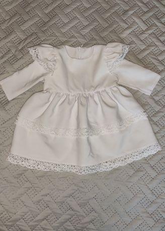 Komplet do chrztu dla dziewczynki 68/74