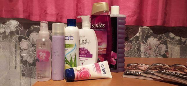 Avon Zestaw dezodorant żel do twarzy pod prysznic płyn do kąpieli hig
