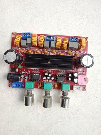 Усилитель звука 2.1 2по 50 и один на 100 ват на сабуфер