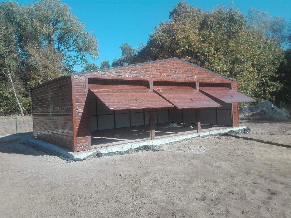 garaże blaszane drewnopodobne, garaż 10x6,wzmocniony, dach dwuspadowy