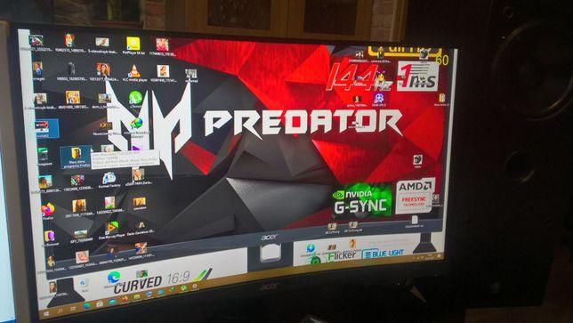 Monitor 27' ACER Predator 144Hz 1ms FullHD curved XZ27