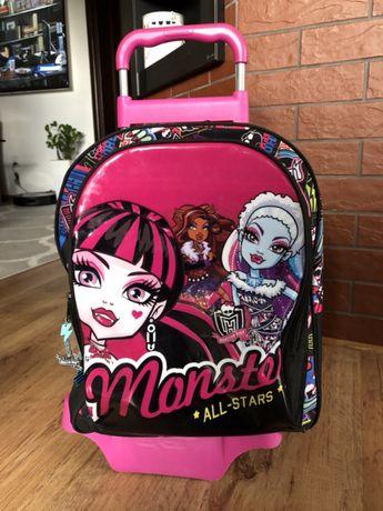 Plecak szkolny mobilny na kółkach monster safta