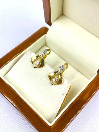 Złote kolczyki pr.585 - PLUS Lombard