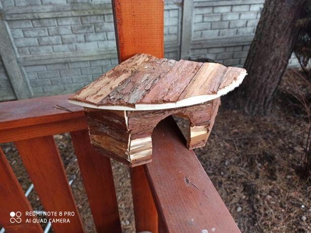 Nowy domek drewniany dla świnki morskiej chomika myszy