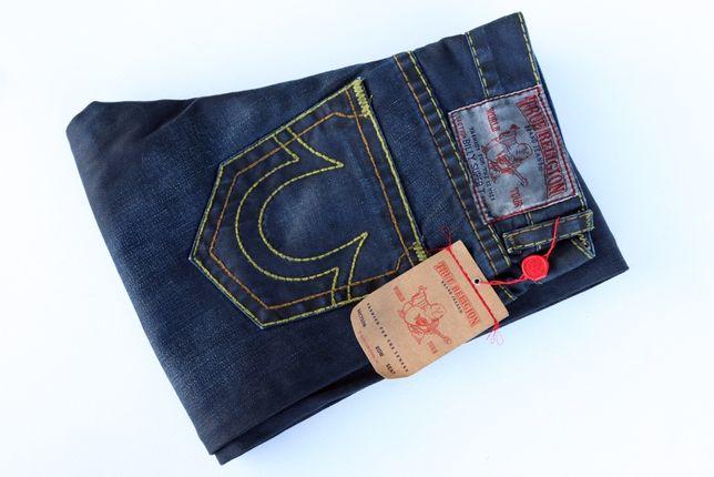 Męskie oryginalne jeansy True Religion Brand Jeans W32 L34. Nowe!