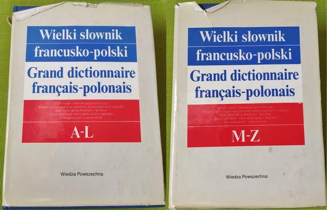 Wielki słownik Francusko - Polski Polsko - Francuski | 2 TOMY