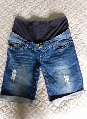 Krótkie jeansowe spodnie ciążowe roz 34