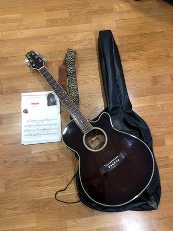 Guitarra semi acústica maison