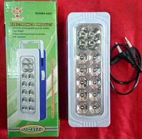 Фонарь с аккумулятором QUNBA-6261 Светодиодный 10+4 LED для отдыха