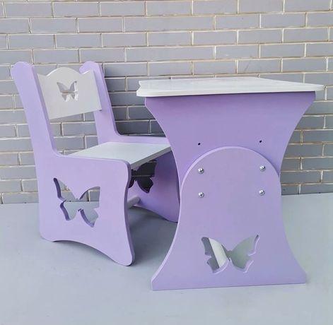 Детский столик и стульчик. Рустущая парта