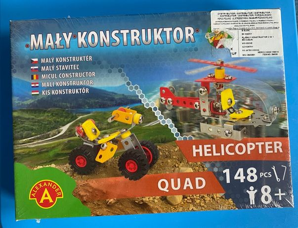 Klocki konstrukcyjne 2w1 Helicopter / Quad