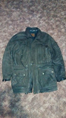Мужская кожаная куртка ХХL