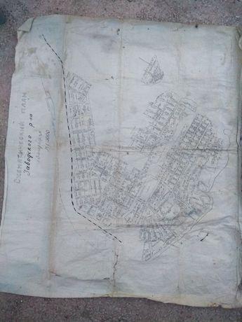 Продам карту схему Заводского района Запорожья
