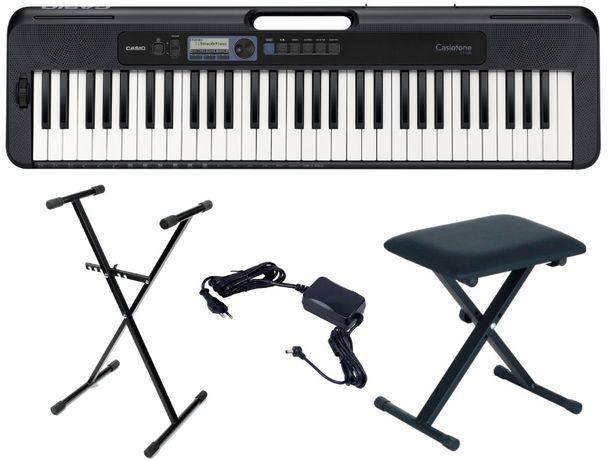 Keyboard Casio CT S300 DANCE MUSIC zestaw ŁAWKA STATYW
