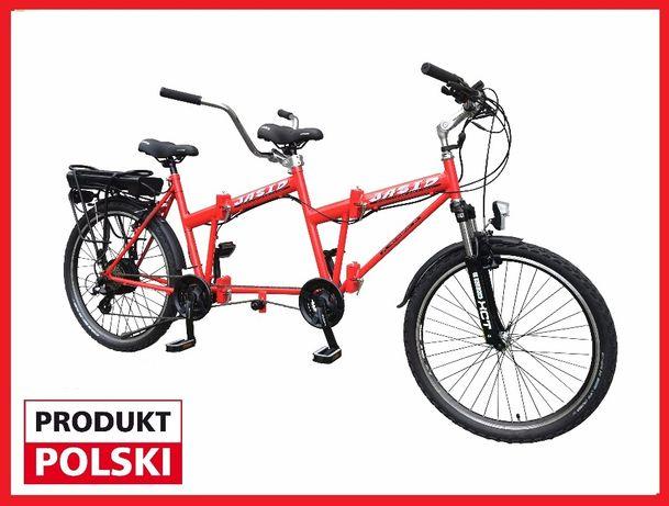 Rower tandem 26' Składany Elektryczny 250 W z silnikiem NOWY,