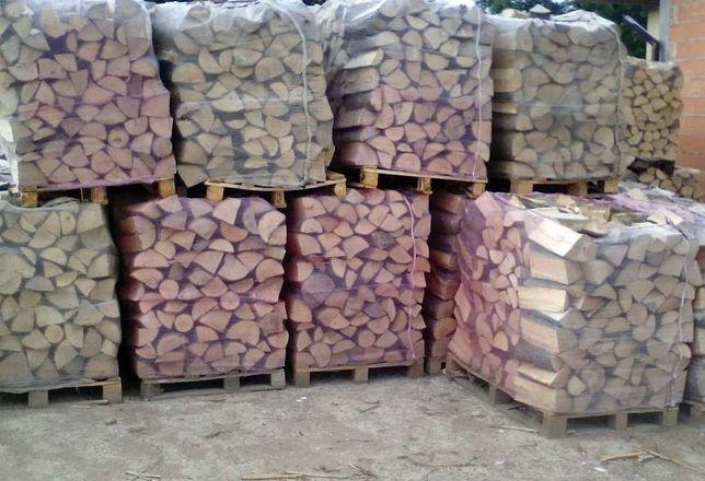 drewno kominkowe liściaste Brzoza sezonowane układaneTransport gratis
