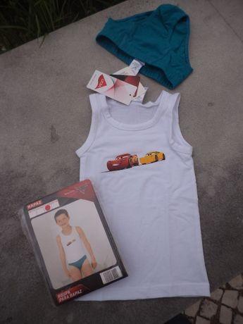 Conjunto roupa interior para rapaz - Faísca MacQueen