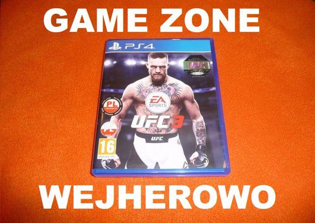 UFC 3 PS4 + PS4 Slim + Pro = PŁYTA PL = Wejherowo