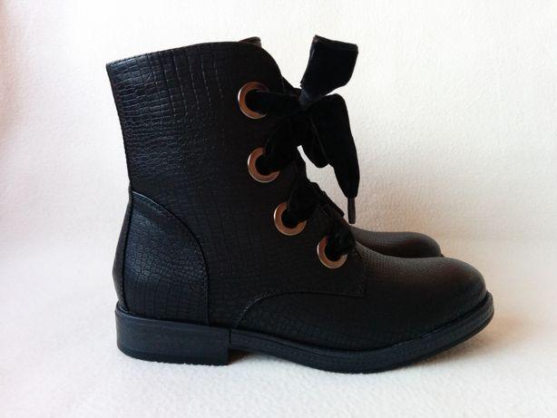 NOWE buty z ozdobną TASIEMKĄ