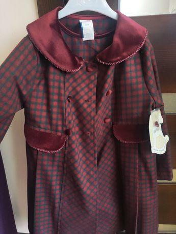 Пальто + плаття, платье, комплект, шкільна форма,сарафан й накидка