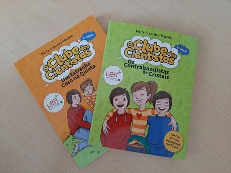 """2 livros """"Clube dos Cientistas """""""