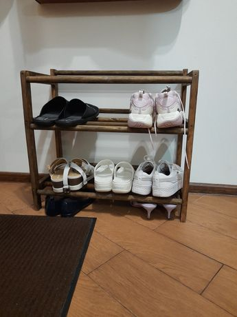 Обувная полка / полка для обуви с настоящего дерева