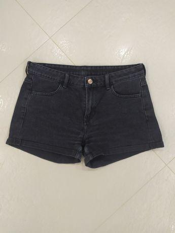 Шорты чёрные джинсовые