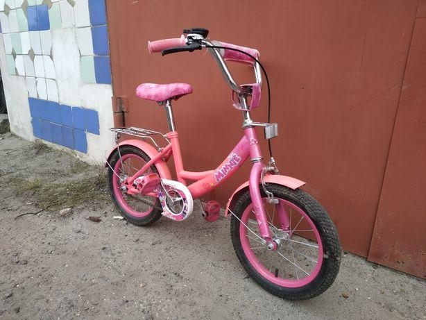 Детский велосипед для девочки 3-7 лет.