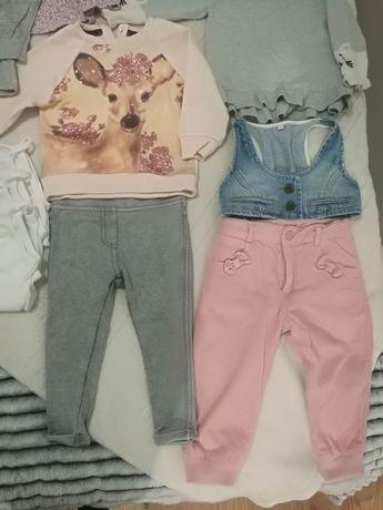 Paka markowych ubranek dla dziewczynki 80-86 ZARA, NEXT, H&M, SMYK