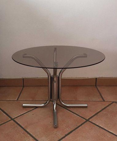 mesa de apoio com tampo de vidro