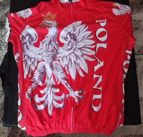 Koszulka na rower kolarska Polska XL/Xxl