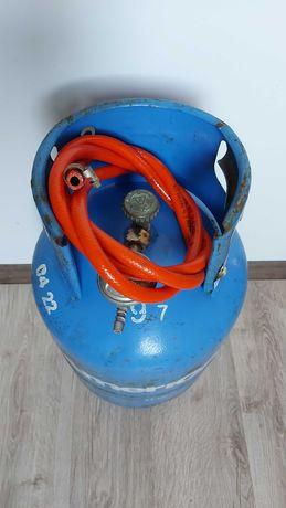 Butla z reduktorem, wężem i zaciskiem, propan-butan techniczny 11 kg.