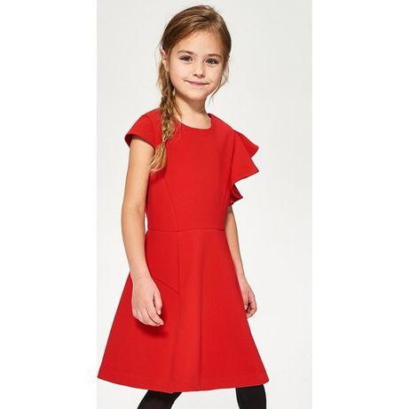 sukienka z asymetrycznymi rękawami Reserved Kids rozm.110 NOWA święta