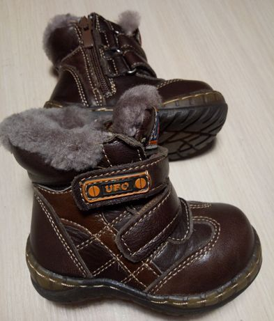 Шкіряні зимові чоботи для хлопчика