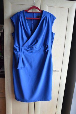 Niebieska sukienka 46 elegancka