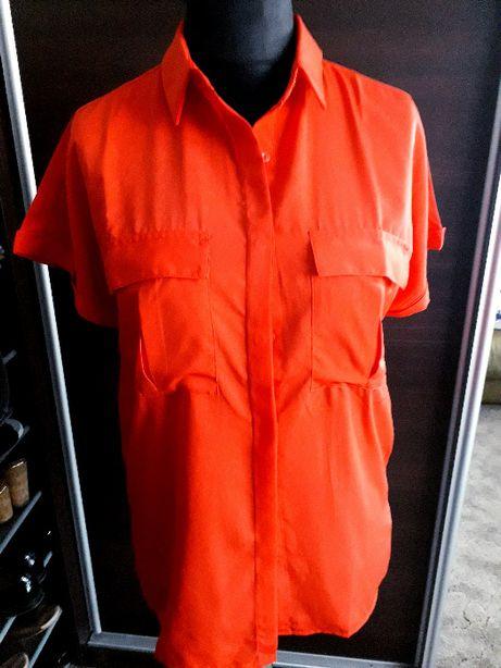 Bluzka czerwona z krótkim rękawem 42 XL