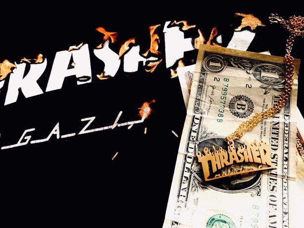 Trasher custom chain/naszyjnik gold